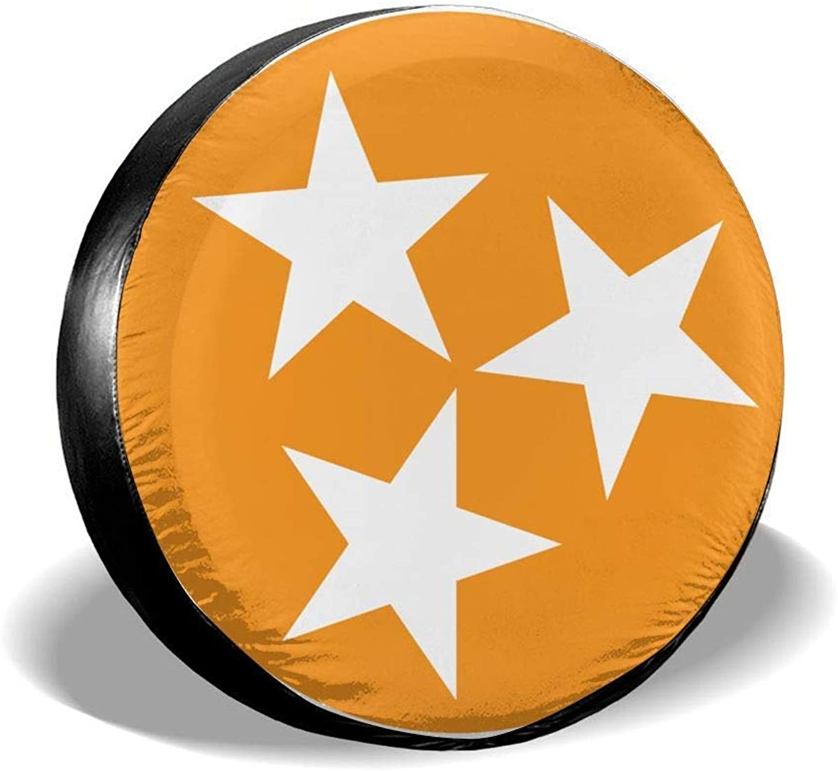 LiBei Flag of Tennessee Waterproof Spare Tire Cover Fits for Trailer RV SUV Truck Camper Travel Trailer Accessories(14,15,16,17 Inch)