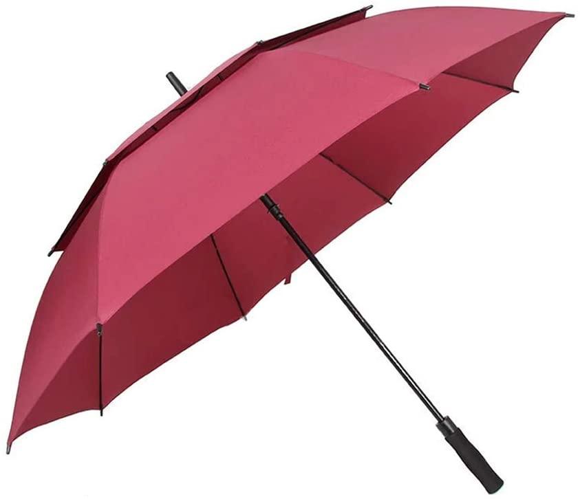 MAG.AL Double Layer Strong Wind Resistance Men Long-Handled Straight Handle Umbrella Sunny rain Dual-use Golf Parasol Business Umbrella