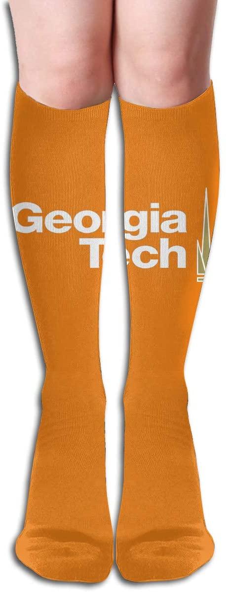 Georgia Tech Men's/Women's Comfortable Casual Funny Long Knee High Socks Compression Socks Winter Warm Soccer Socks