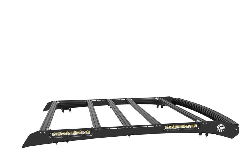 KC Hilites 92231 C-Series Roof Rack Aluminum w/Horizontal Cross Bars Incl. 50 in. C-Series Curved LED Light Bar/Four LED Flood Lights KC C-Series Area C-Series Roof Rack