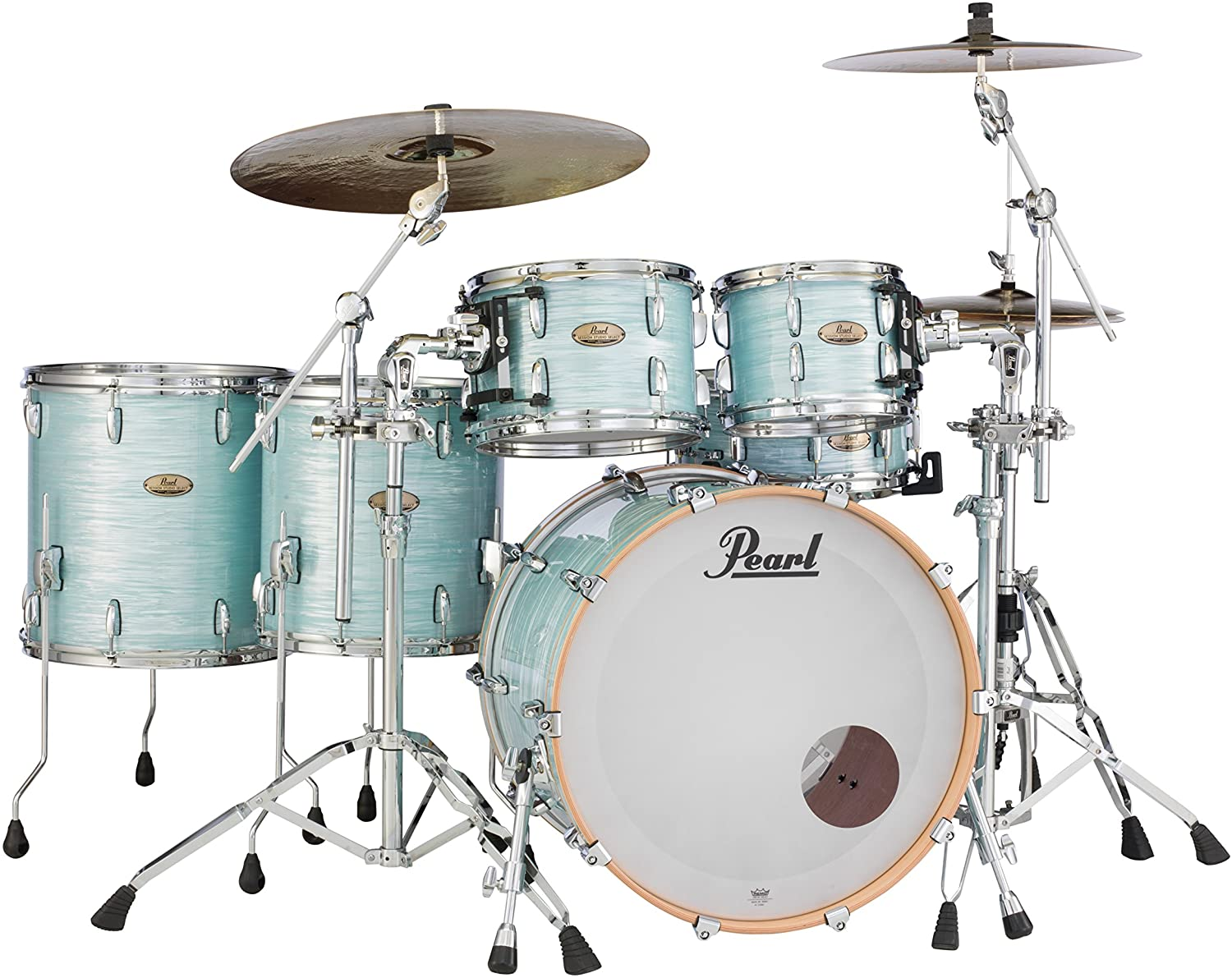 Pearl Session Studio Select Series 5-piece shell pack (hardware/cymbals not included), Ice Blue Oyster (STS925XSP/C414)