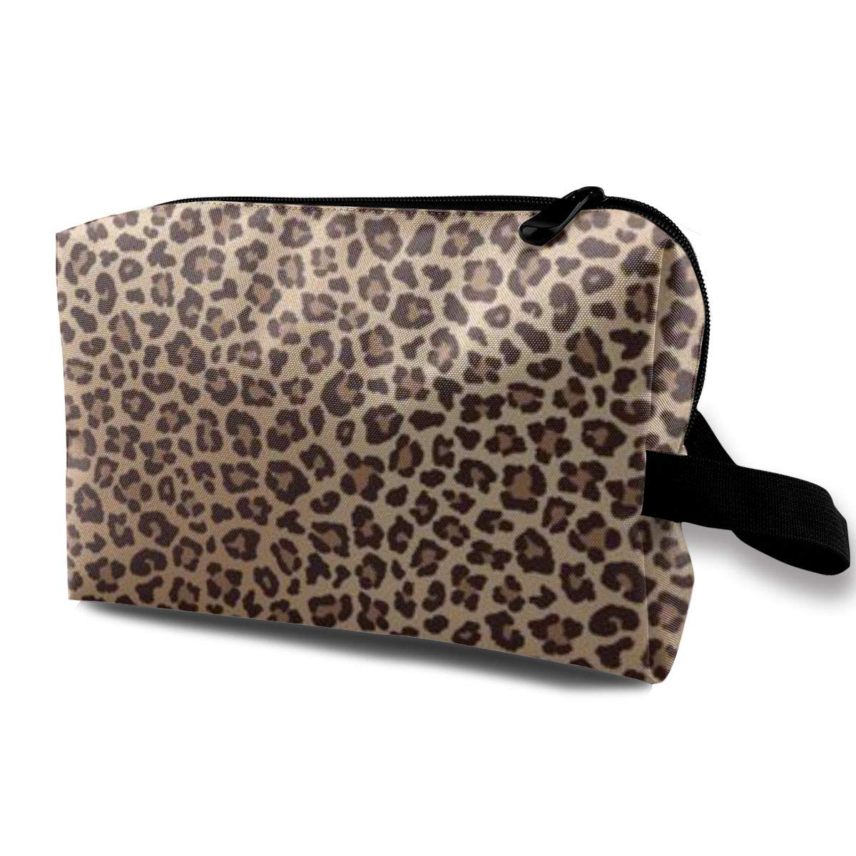 Makeup Bag Cosmetic Pouch Leopard Spotted Fur Texture Multi-Functional Bag Travel Kit Storage Bag