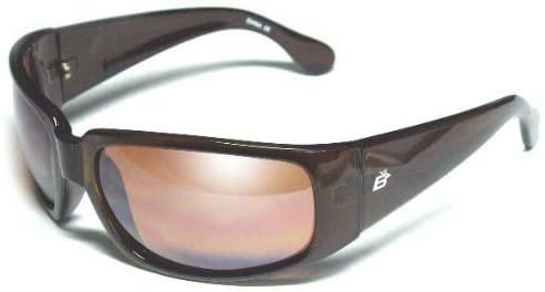 Birdz Eyewear Women's Hooter Motorcycle Glasses Sunglasses (Brown Frame/Brown Lenses)