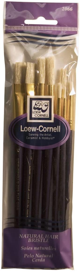 Loew-Cornell 2066 Brush Set, Natural Hair, Bristle