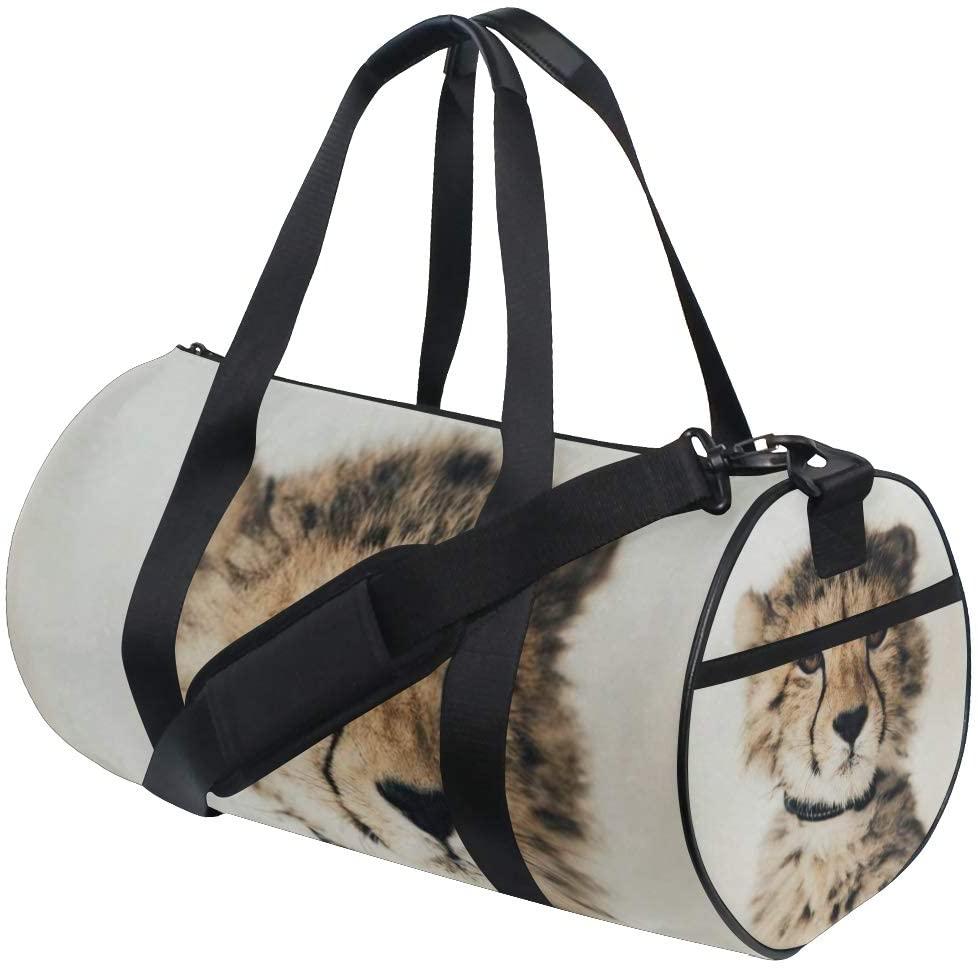 SLHFPX Duffel Bags Baby Cheetah Womens Gym Yoga Bag Fun Tote Beach Bag for Men