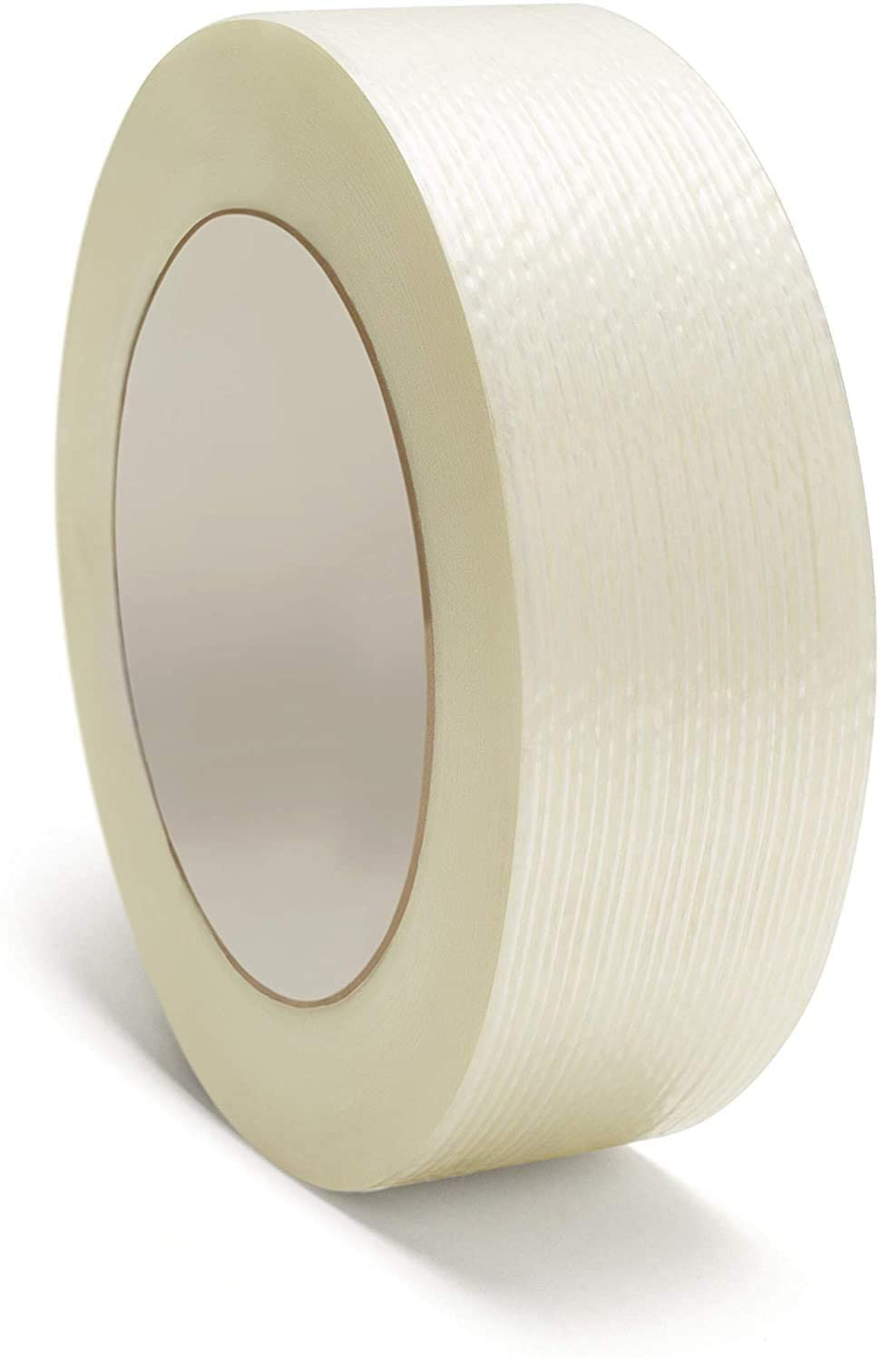 Made in The USA, Heavy Duty Strapping Tape, Filament Reinforced Tape Rolls, 4.0 Mil Thick, Clear, 3 Inch x 60 Yards, 16 Pack