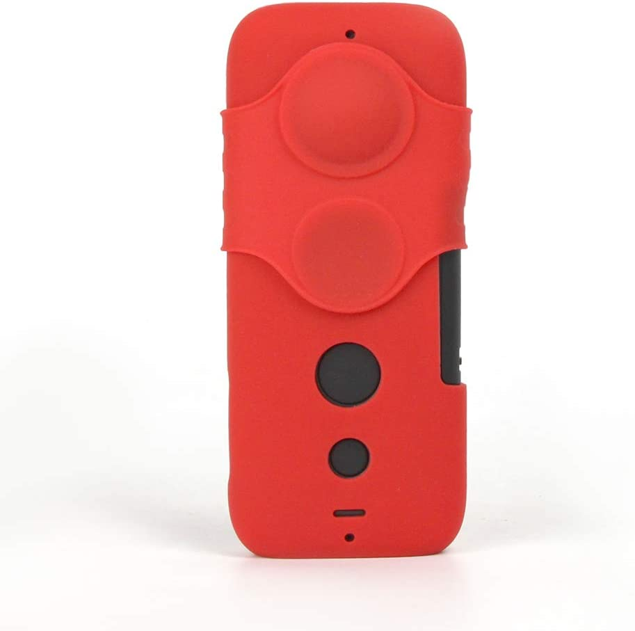 HUIFEIDEYU Protective Cover Replacement Part for Camera Lens, Anti-Scratch Silicone Protective Cover for Sunnylife Insta360 One X Camera Lens red