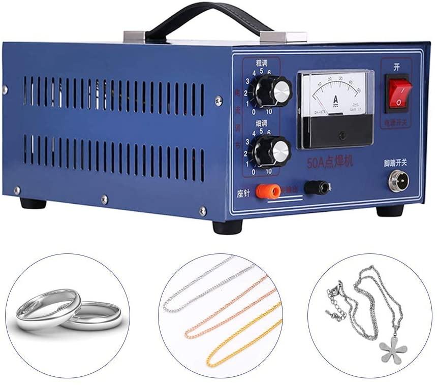 MXBAOHENG Jewelry Laser Welding Machine Spot Welder DX-50A for Gold Silver Platinum Palladiu 500W 50A 110V