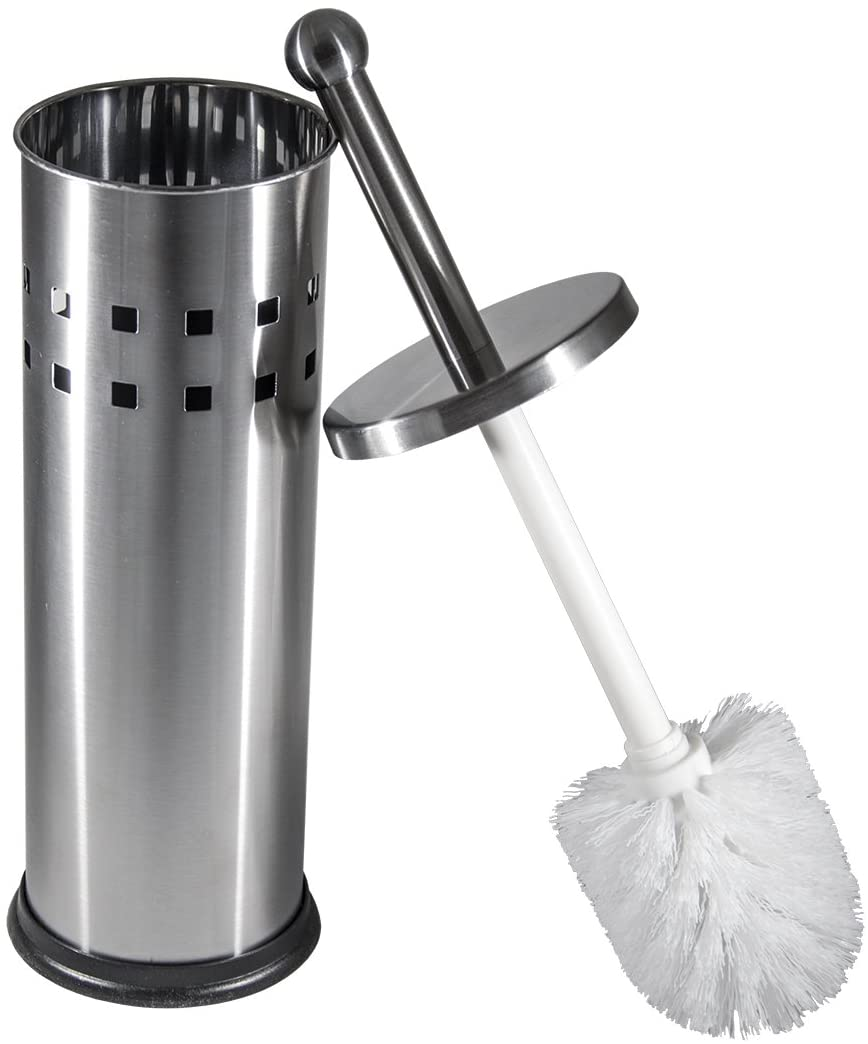 Vented Stainless Steel Toilet Brush and Holder