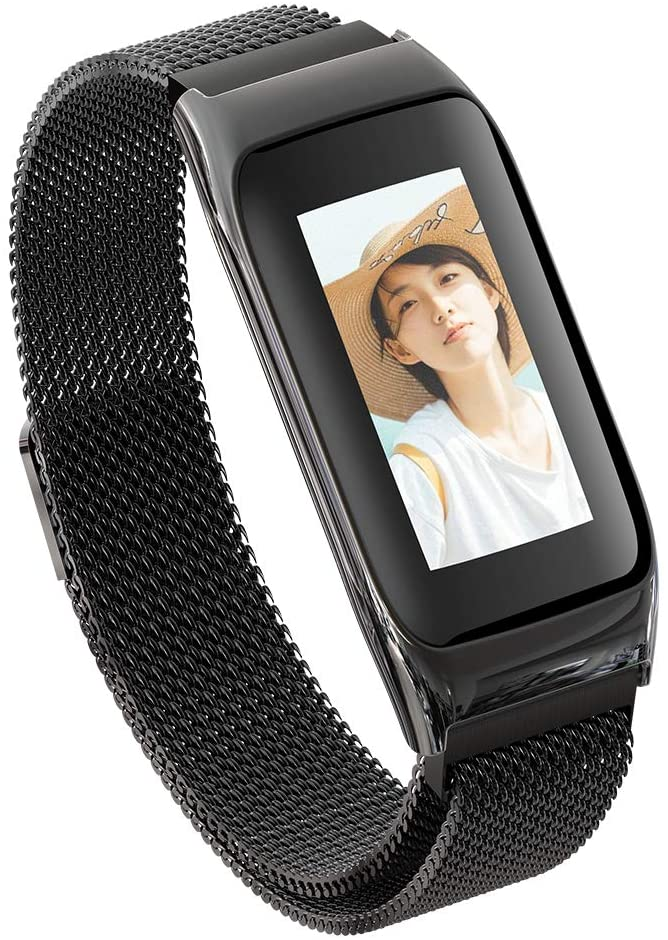 Lee Lam Smart Watch, Smart Check Heart Rate Raise Hand Bright Screen Waterproof Remote Control Self-Timer Watch,Blacksteel