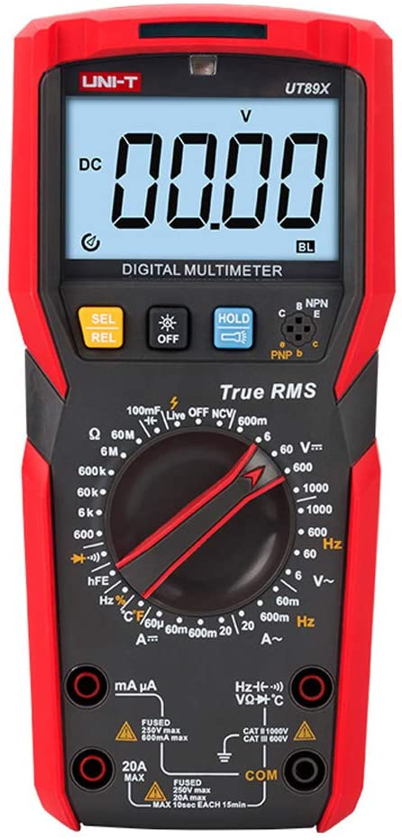 UNI-T UT89X multimeter True RMS NCV tester ac dc Voltmeter Ammeter Capacitance Frequency Resistance Temperature tester