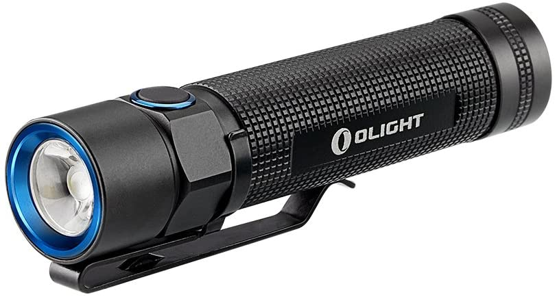OLIGHT EDC Best LED Flashlight S2 Cree XM-L2 950 Lumens EDC LED Torch with Variable-Output Side-Switch for Outdoor Spring Outing Camping Hiking, Black