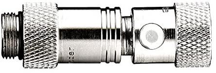 LEZYNE Abs Shock Chuck Bike Pump Accessory, Silver, One Size