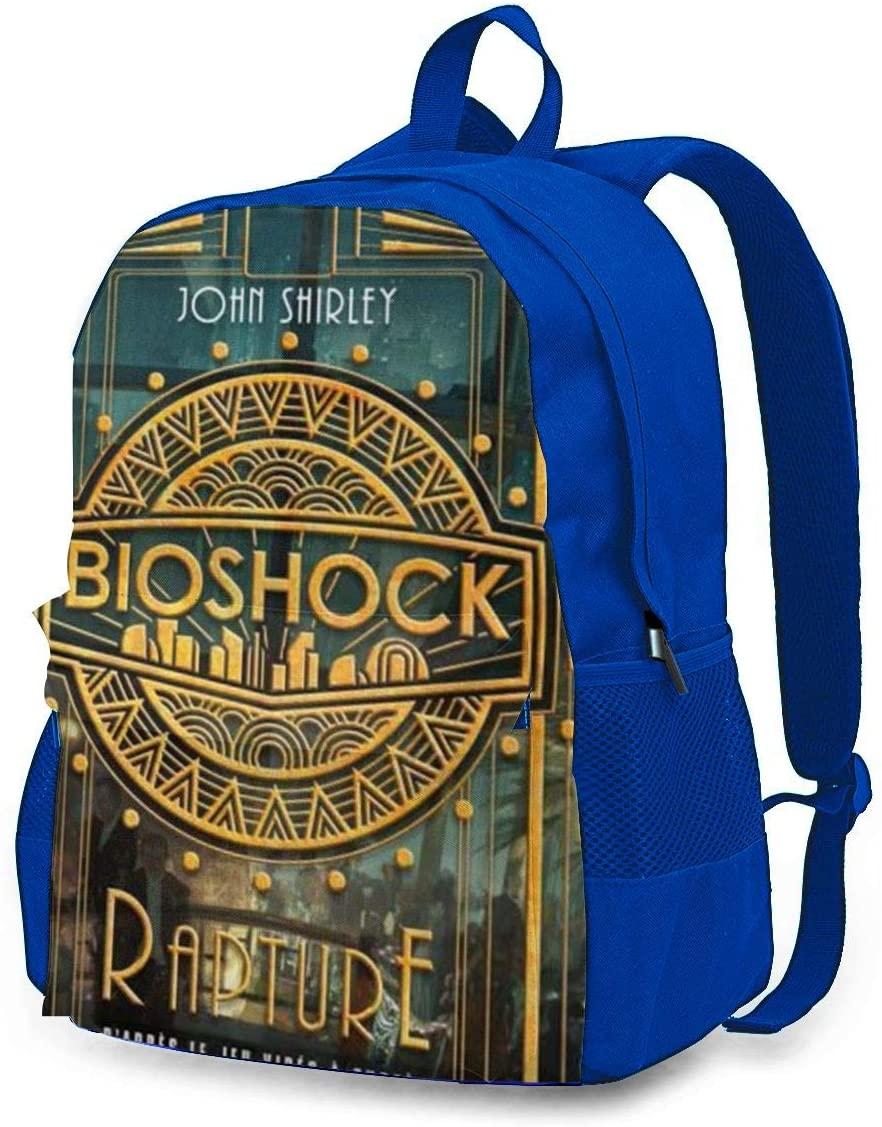 Bioshock Laptop Backpack, Travel Backpack Durable Carry-On Multipurpose Bag, Business Luggage Backpack