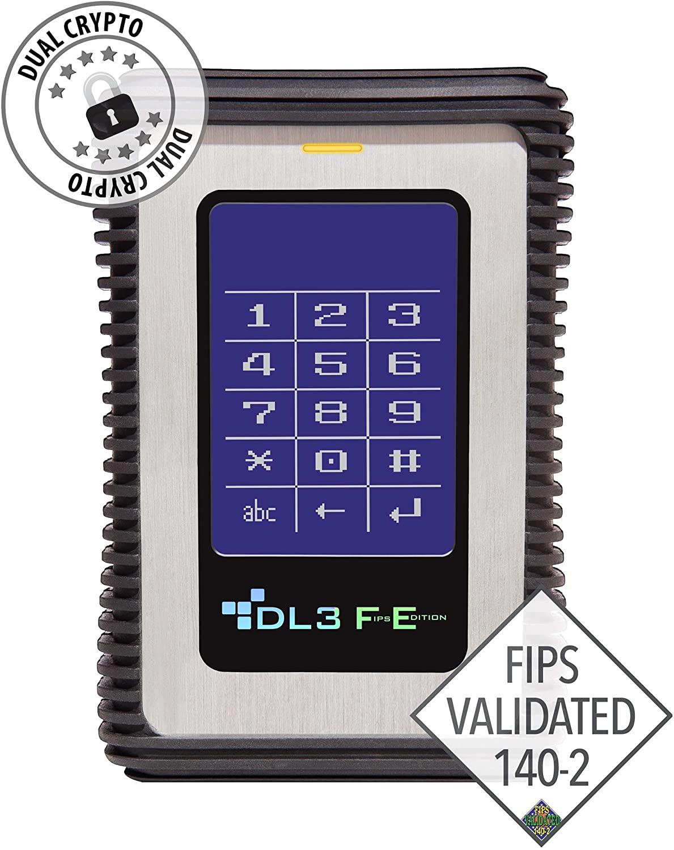 Data Locker 3 FE (FIPS Edition) - Hard Drive - 1 TB - USB 3.0, Silver (FE1000RFID)