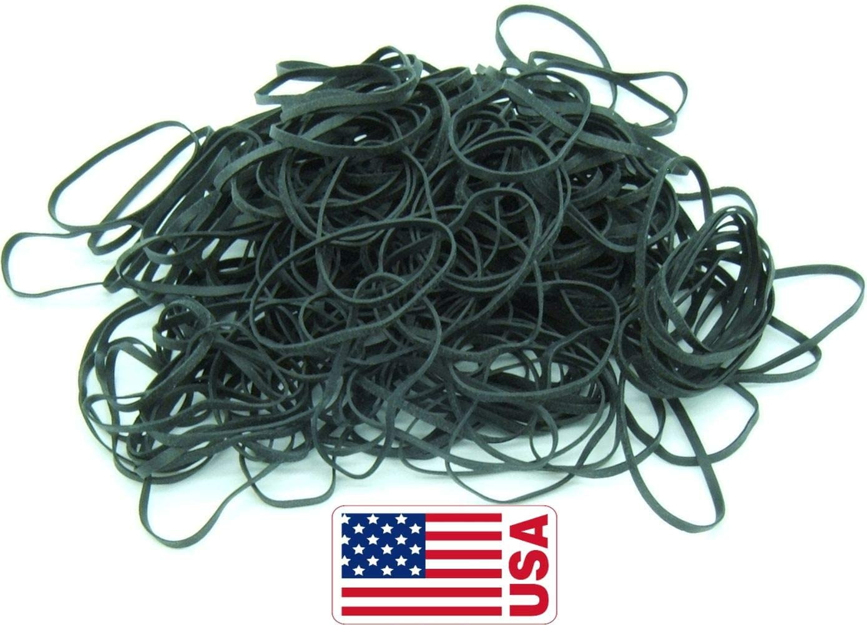 "Black High Heat UV Resistant #32 Platinum Crepe Rubber Band (3"" x 1/8"") Premium Angler 200-210 Count (32-1/4lb)"