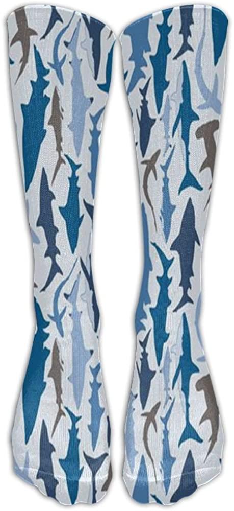 LINGMEI Hammerhead Shark Athletic Tube Stockings Women's Men's Classics Knee High Socks Sport Long Sock One Size