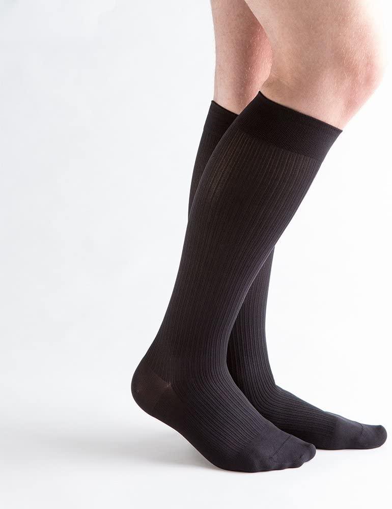 VenActive Mens 15-20 mmHg Compression Socks, Classic Rib