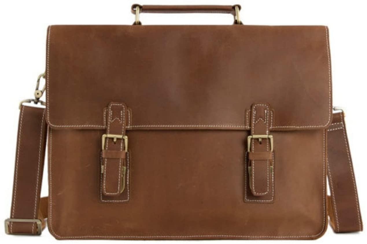 Handmade Top Grain Brown Tan Real Leather Messenger Bag Laptop Bag Men /Women Business Briefcase, Shoulder Bag, Men Handbag, Women Handbag