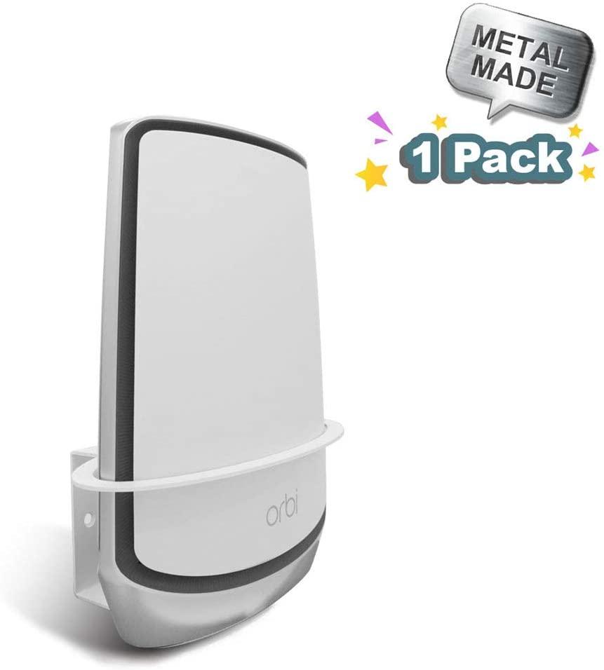 Orbi WiFi 6 Wall Mount, ALLICAVER Sturdy Metal Made Wall Mount Bracket Compatible with Netgear Orbi WiFi 6 Router RBK852, RBK853. (WiFi 6-1 Pack)