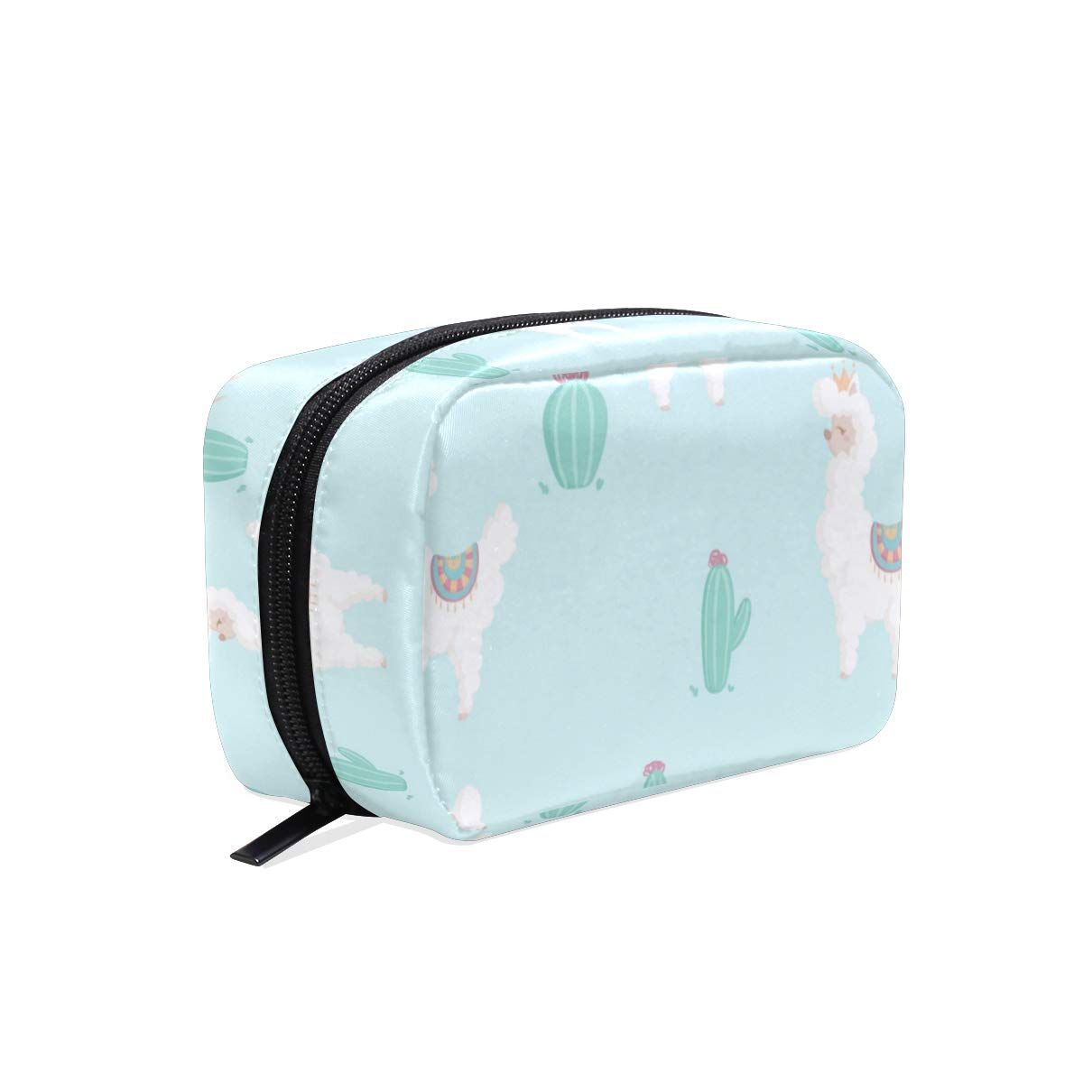 ILEEY Cute Alpacas Pattern With Nature Cosmetic Pouch Clutch Makeup Bag Travel Organizer Case Toiletry Pouch for Women
