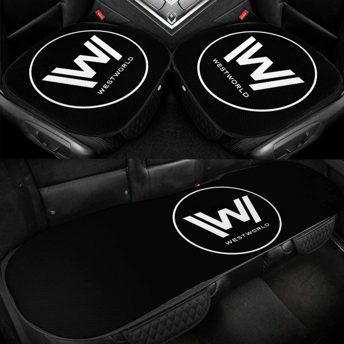Westworld Car Ice Cushion Car Seat Cover Cushion Ice Silk Breathable Cushion, Car Rear Seat Cover, Driverâ€s Seat Cushion, Used to Relieve Back Pain