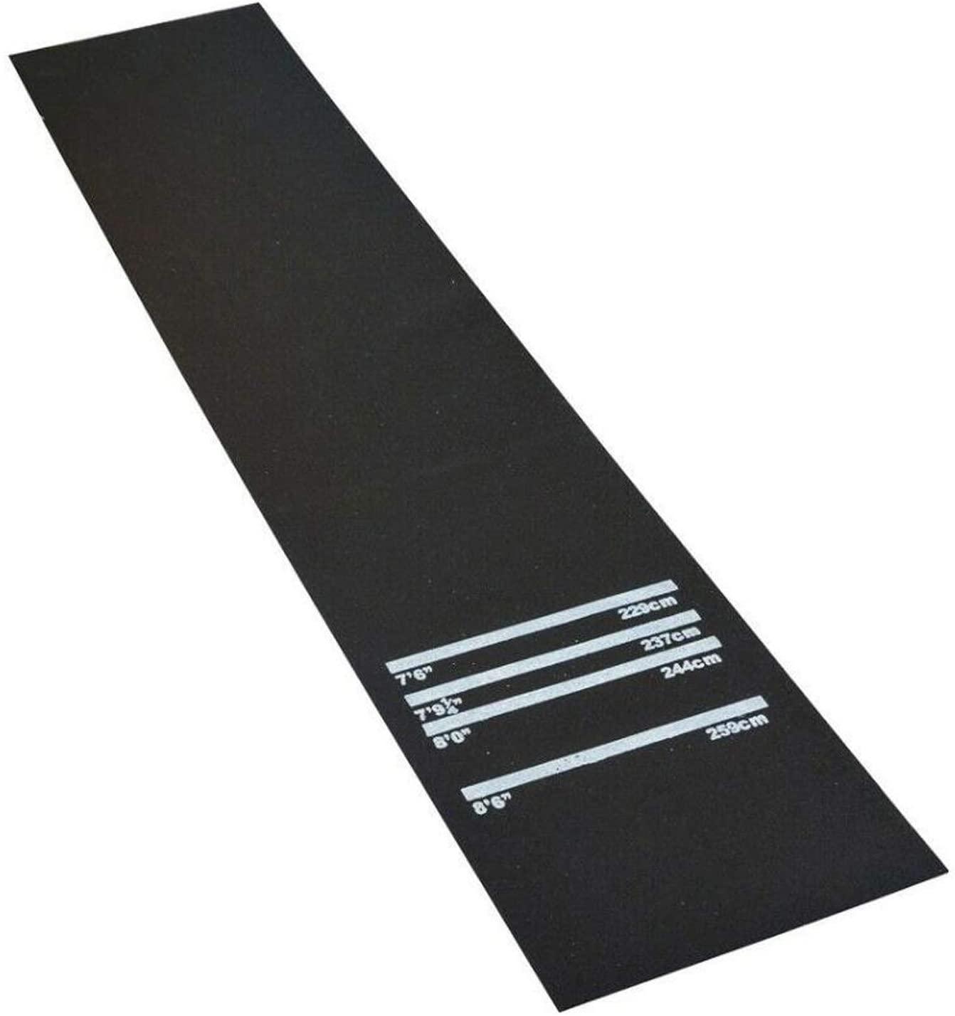 Lehom Dart Mat Throw/Toe Line Floor Marker Professional Rubber Darts Mat for Home Pub Party,118 x 24 x 1/5inch Black