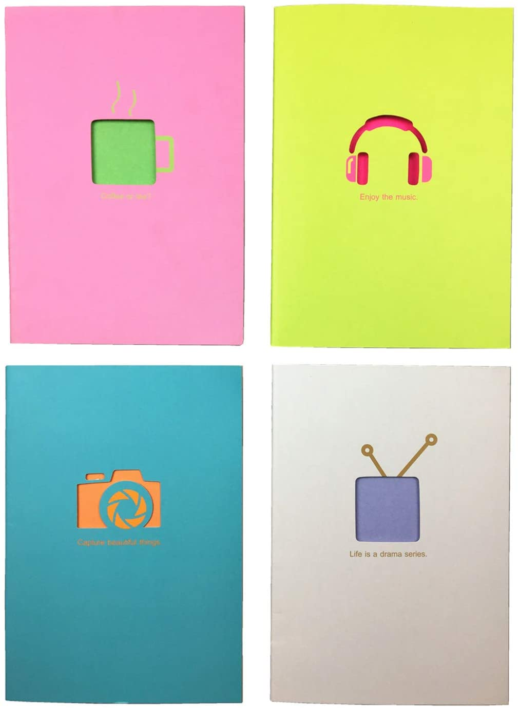 Szsay Candy Series Softcover A5 Notebook 4-Pack