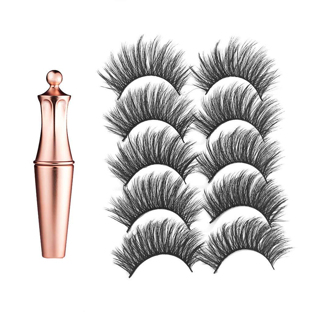 FeiFei66 Best Selling Magnetic Eyeliner Paste Waterproof Sweat-proof Fast Drying Lasting +3D Fake Eyelashes Eye Cosmetic Tool Set
