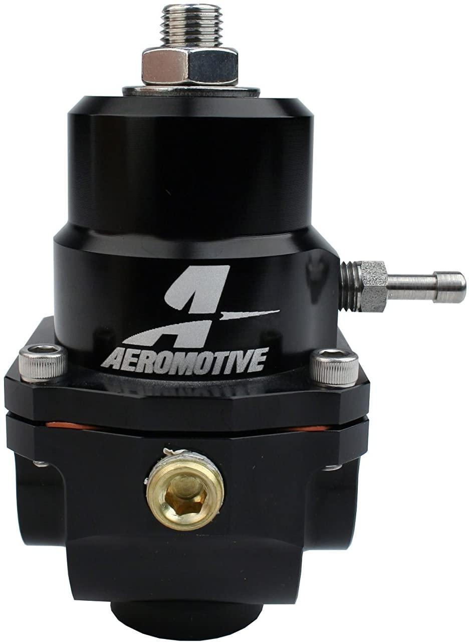 Aeromotive 13305 Regulator, X1 Adjustable, 35-75psi.313 Valve, (2)-08inlets, -08 return