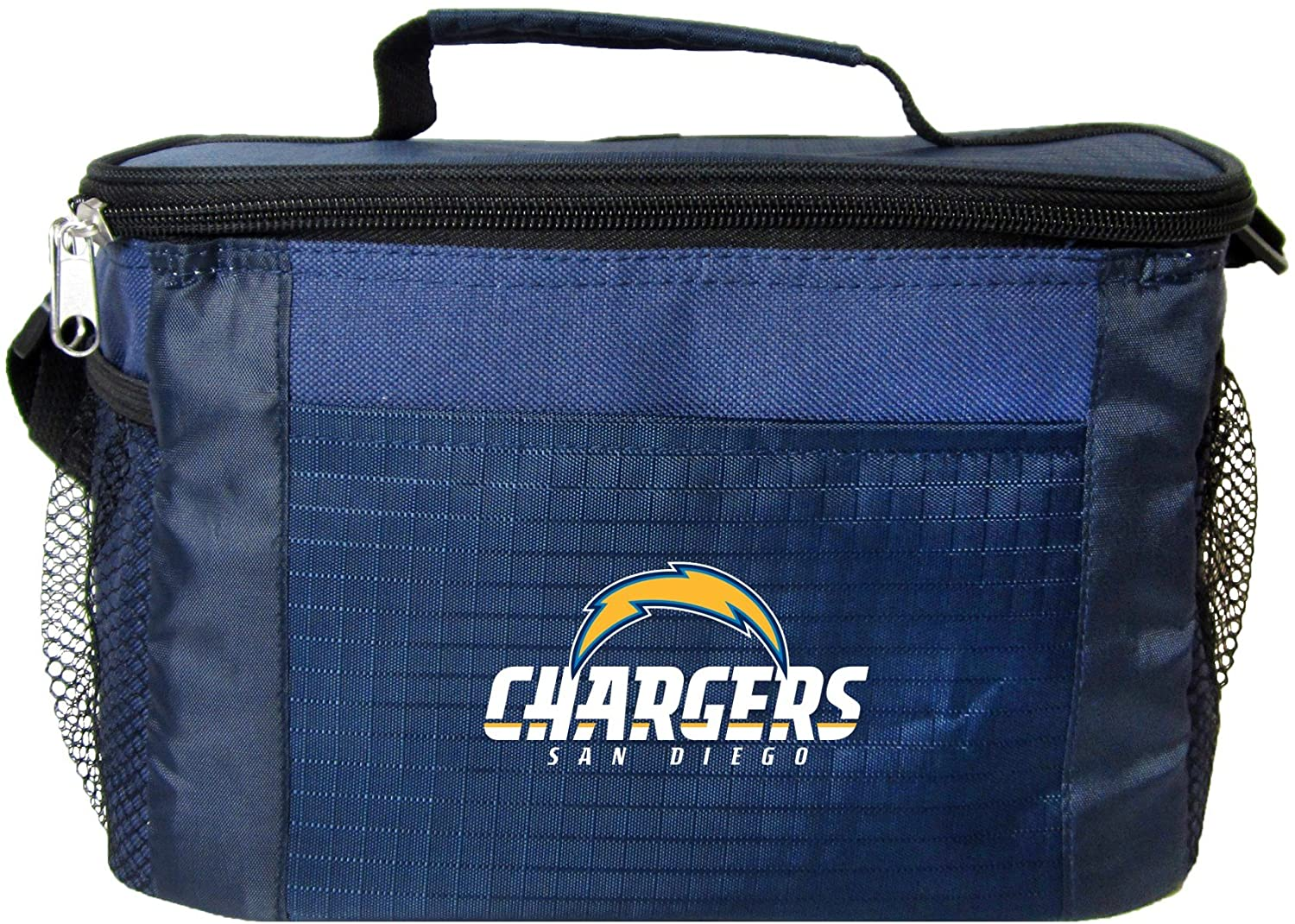 NFL San Diego Chargers Insulated Lunch Cooler Bag with Zipper Closure, Navy