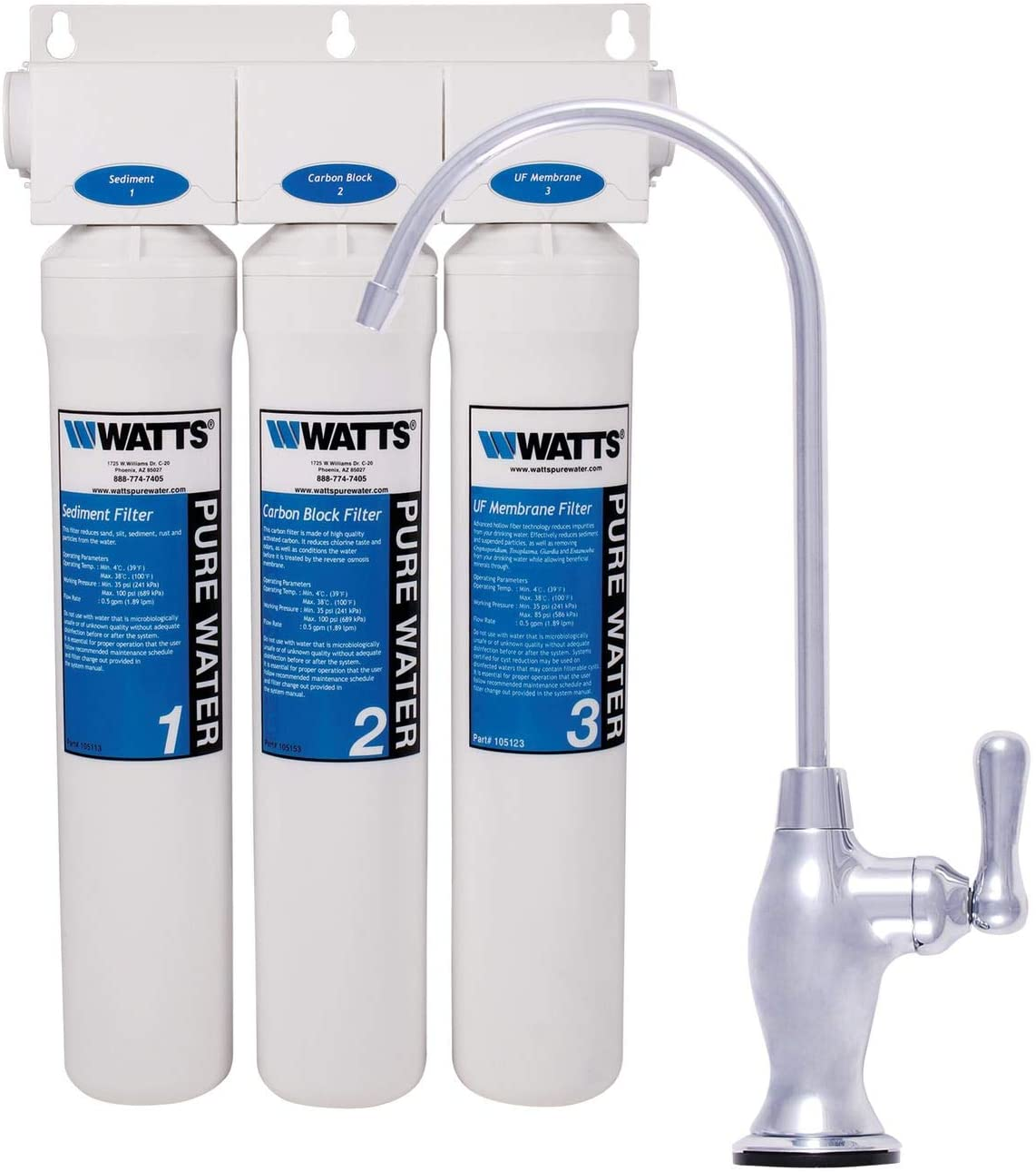 Watts Kwik-Change 3-stage Ultra Filtration Drinking Water System