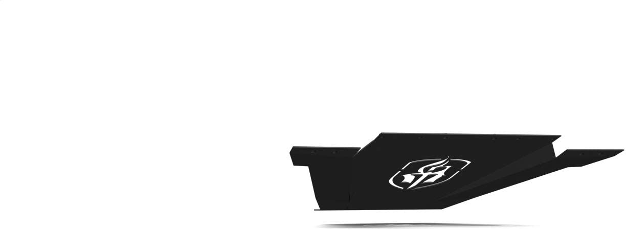 Spartan Front Bumper Bolt-On Accessory Skid Plate Guard Satin Black Road Armor 2015-2019 Chevy 2500 3500