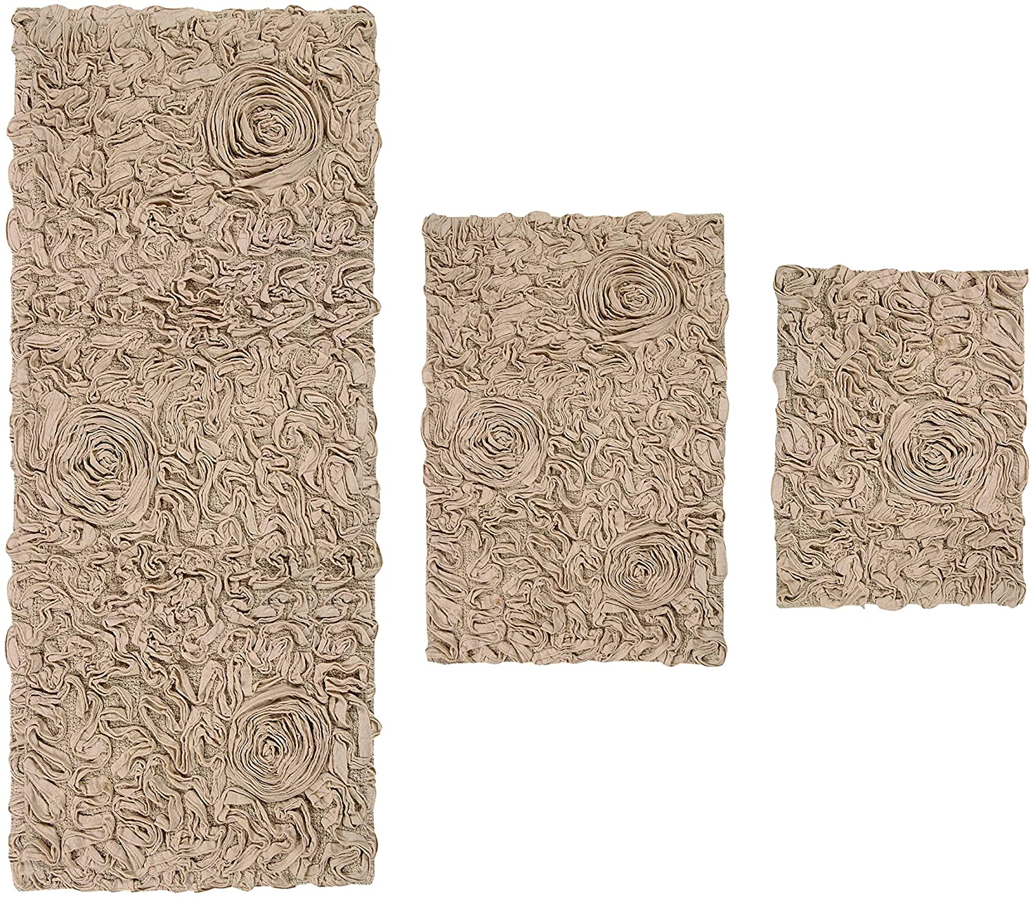 Home Weavers Bell Flower Collection Absorbent Cotton, Soft Rug, Machine wash Dry, 17