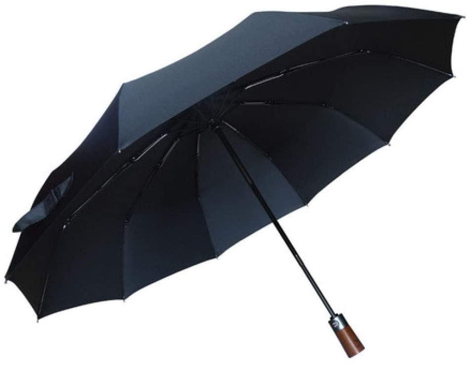 MGZDH Umbrella Windproof Folding, Compact Umbrella Windproof Travel Folding Umbrella, Storm-Proof UP to 87 mp/h, 210T Teflon Coated Fast-Drying, Auto Open Close Foldable Umbrella