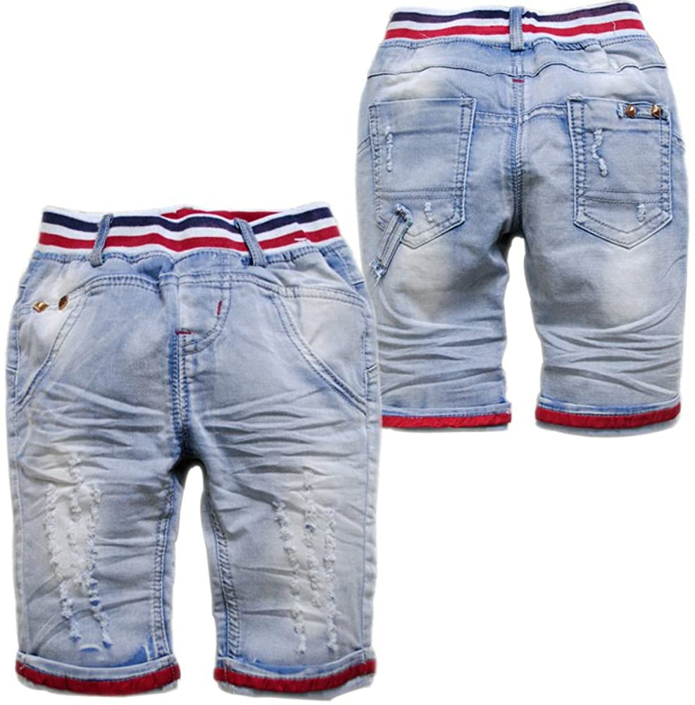 3670 Summer Shorts Baby Pants Baby Boys Jeans 70% Length Soft Denim