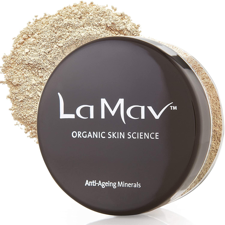 LA MAV Anti Ageing Mineral Foundation Makeup Powder for Women - Medium | Anti Aging Foundation with SPF