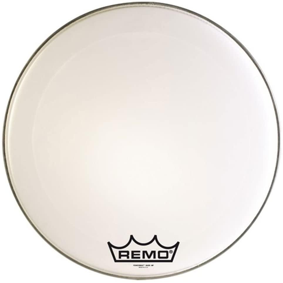 Remo Powermax Ultra White Crimplock Bass Drumhead, 28