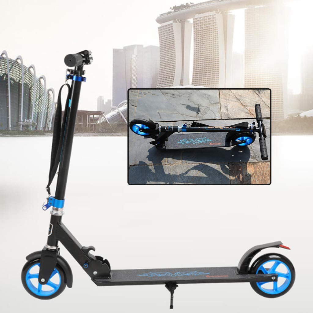 Baby Playpen Foldable Adult Scooter, Kick Scooters Scooter Bars, City Scooters for Adult Youth Kids with Shoulder Strap for Everyday Outdoor Commuting and Fun for Kids and Adults