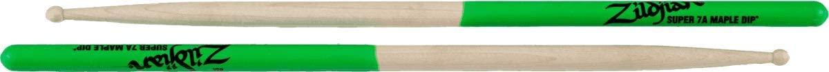Zildjian Super 7A Maple Green Dip Drumsticks