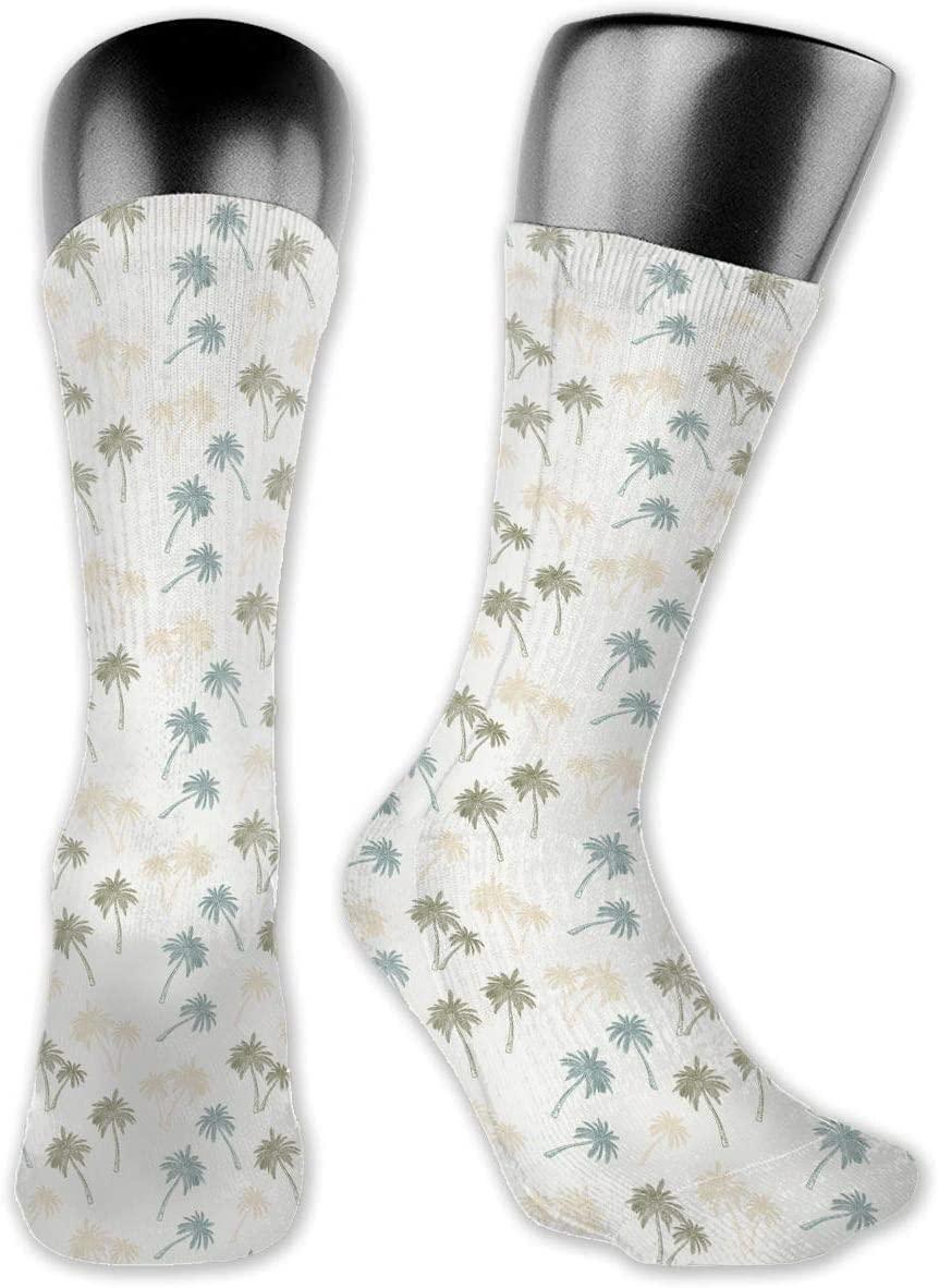 Watercolor Palm Tree Unisex Outdoor Long Socks Sport Athletic Crew Socks Stockings