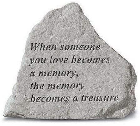 When Someone You Love Memorial Garden Stone