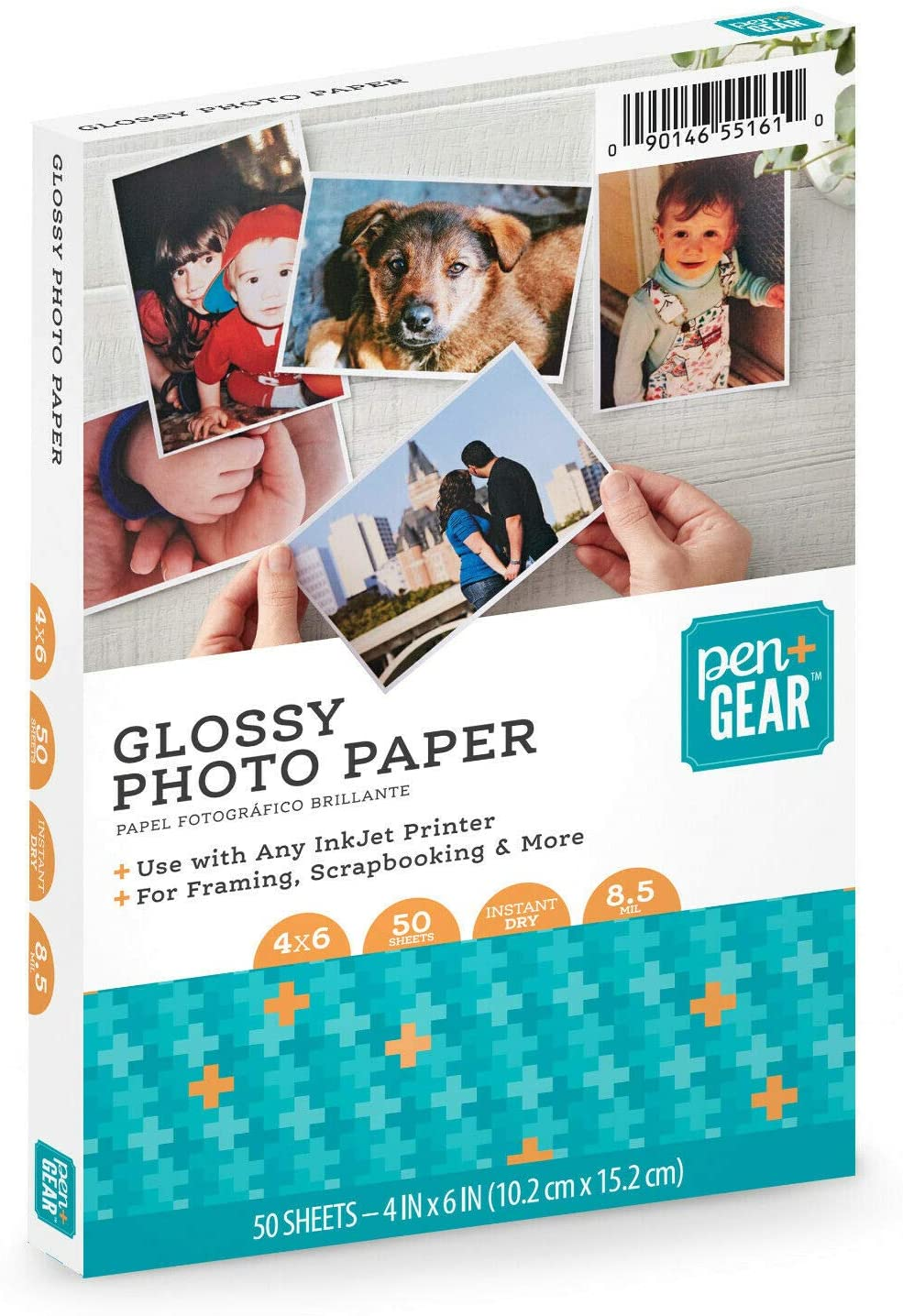 Pen+Gear GLOSSY PHOTO PAPER 4 x 6 50 SHEETS 8.5mil for INKJET PRINTERS 10x15