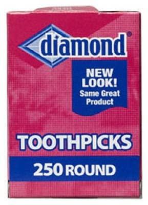 Diamond Round Toothpicks, Pack of 250 (3)
