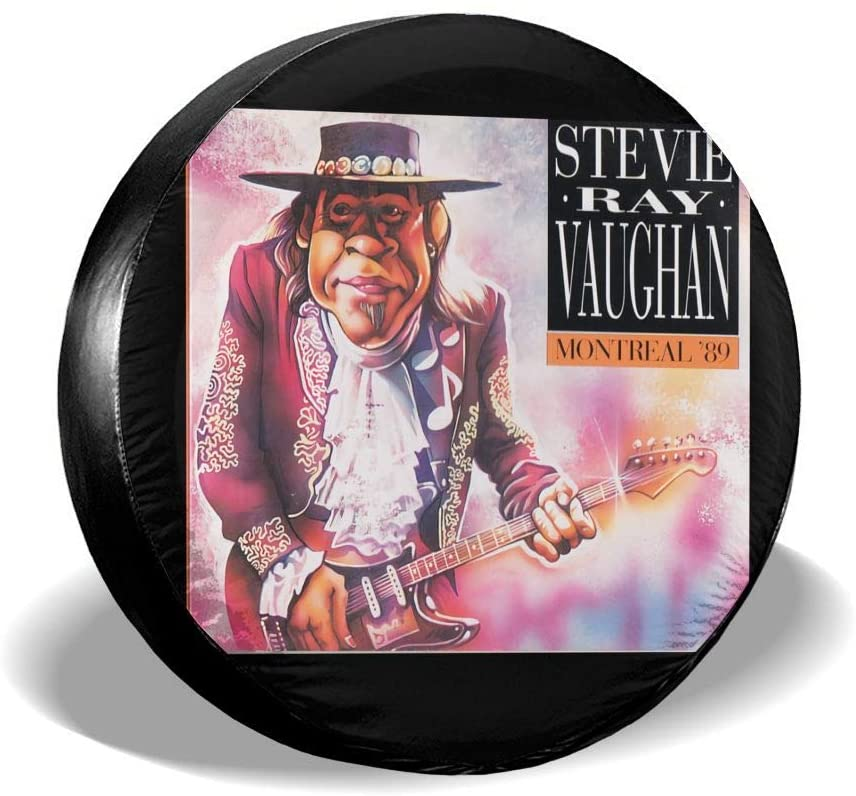 Qwtykeertyi Stevie Ray Vaughan Tire Cover Polyester Universal Spare Wheel Tire Cover Wheel Covers for Trailer Rv SUV Truck Camper Travel Trailer Accessories 14