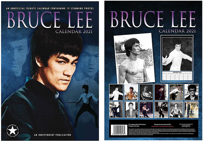 Bruce Lee Calendar 2021 A3 + Bruce Lee Fridge Magnet