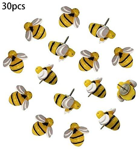 Clips Creative Decorative Cute Bees Thumb Tacks ThumbNails PushPins Push Pins 30 Pcs