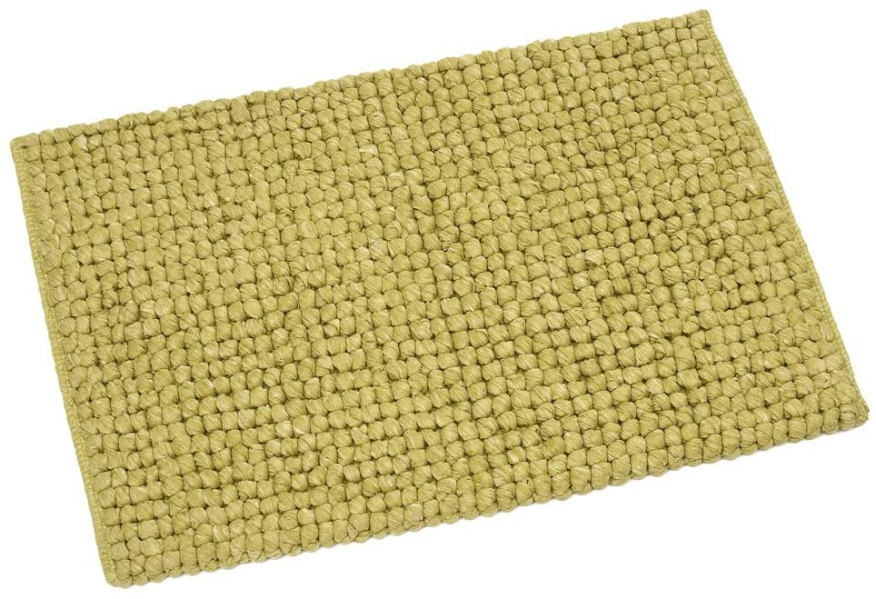FHE Group Tissue Loop Bath Mat, 30 by 20 Inches, Chartreuse