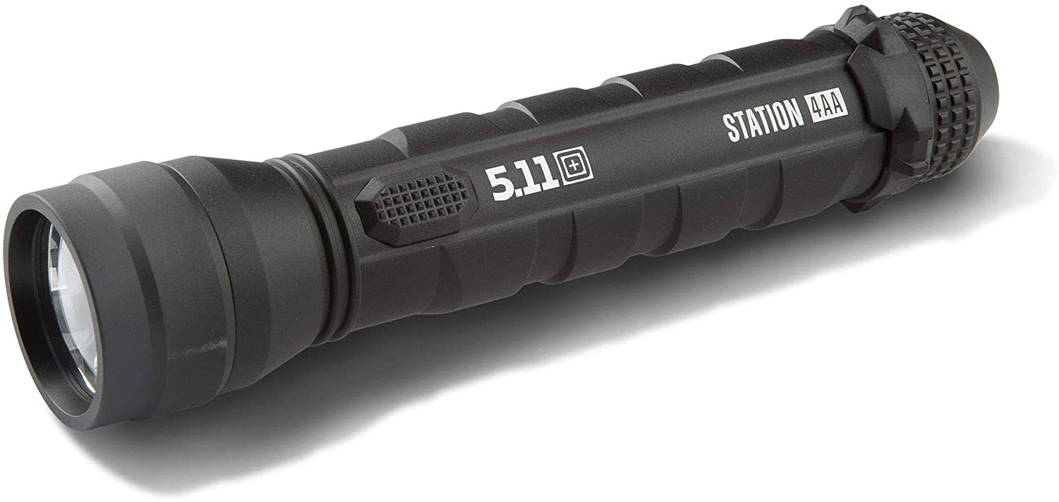 5.11 Tactical Station 4AA Flashlight, Single Mode Switch, Water and Impact Resistant, Style 53278