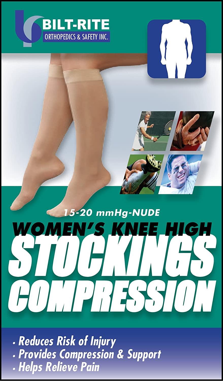 Bilt-Rite Mastex Health Women's Knee High Stockings, Natural, 2X-Large
